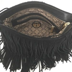Authentic Tory Burch BoHo Suede Fringe Bag